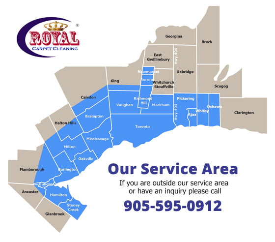 Areas We Serve Royal Carpet And Duct Cleaning